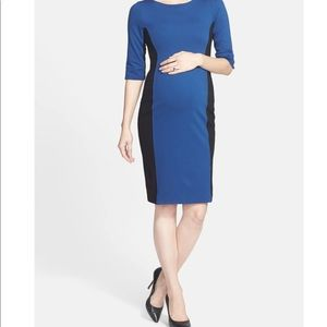 Eva Alexander London colorblock maternity dress